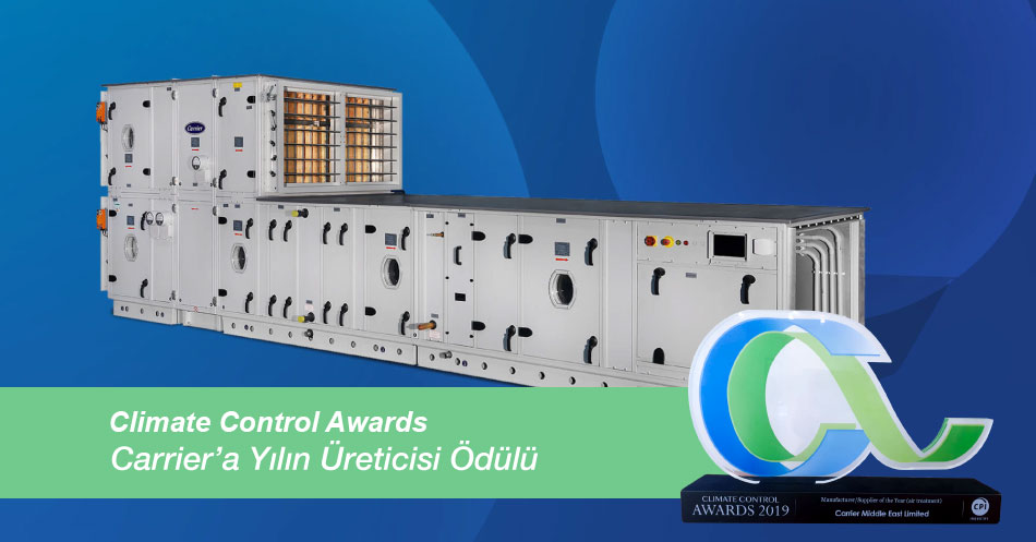 """Alarko Carrier Receives the """"Producer of the Year"""" Award at Climate Control Awards"""